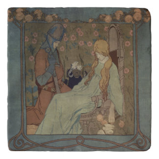 Sleeping Beauty by Heinrich Vogeler Trivet