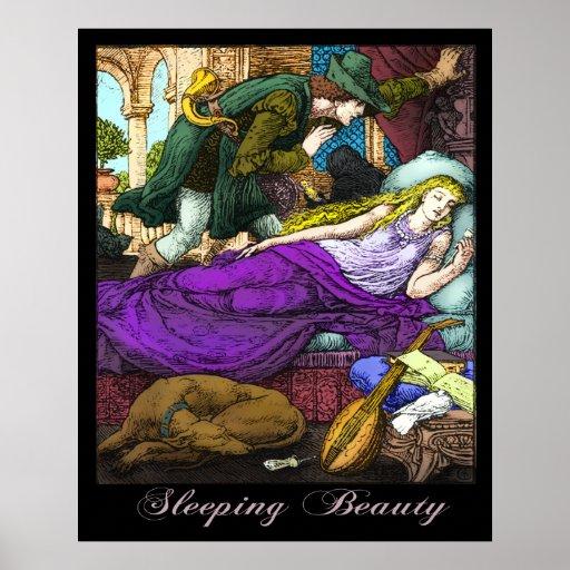 Sleeping Beauty by Walter Crane Poster