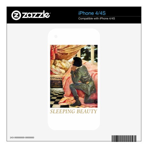 Sleeping Beauty Decals For The iPhone 4S