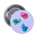 Sleeping Beauty Fairies 2 Inch Round Button