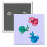Sleeping Beauty Fairies 2 Inch Square Button