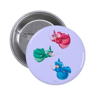 Sleeping Beauty Fairies Button