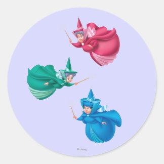 Sleeping Beauty Fairies Classic Round Sticker