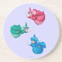 Sleeping Beauty Fairies Drink Coaster