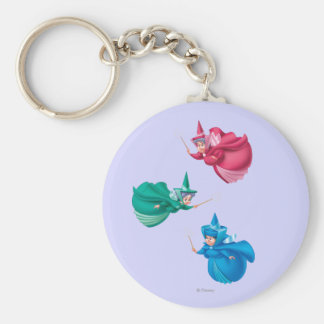 Sleeping Beauty Fairies Keychain