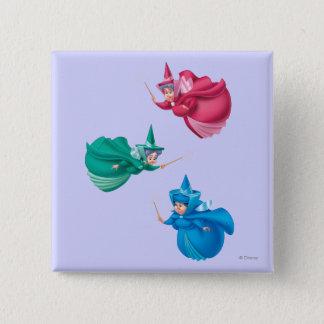 Sleeping Beauty Fairies Pinback Button