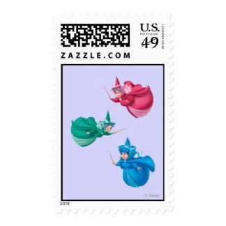 Sleeping Beauty Fairies Postage Stamp