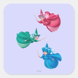 Sleeping Beauty Fairies Square Sticker