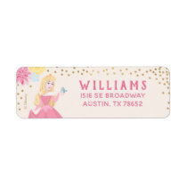 Sleeping Beauty   Floral Gold Confetti Label