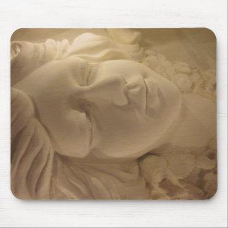 Sleeping Beauty goddess Face Mouse pad