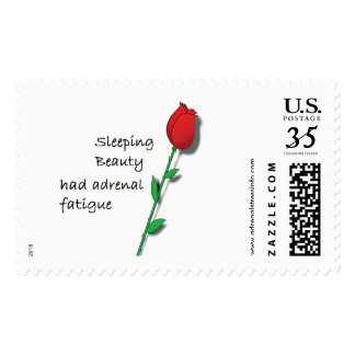 Sleeping Beauty had Adrenal Fatigue postage