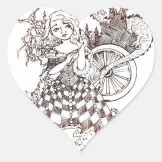 Sleeping Beauty Heart Sticker