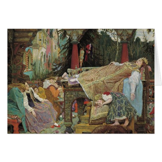 Sleeping Beauty in the Pavilion Card