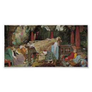 Sleeping Beauty in the Pavilion Poster