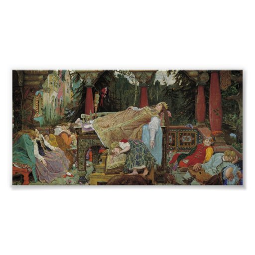 Sleeping Beauty in the Pavilion Print