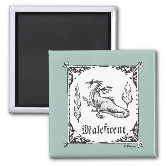 Sleeping Beauty Maleficent Dragon Gothic Magnet