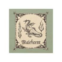 Sleeping Beauty | Maleficent Dragon - Gothic Wood Print