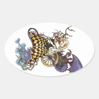 Sleeping Beauty Oval Sticker