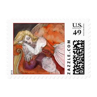 Sleeping Beauty Postage Stamps