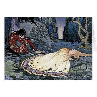 Sleeping Beauty Princess Vintage French Illustrati Greeting Cards
