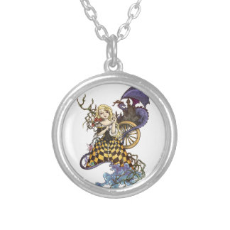 Sleeping Beauty Silver Plated Necklace