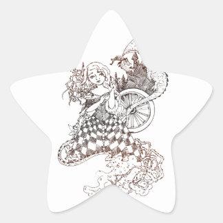 Sleeping Beauty Star Sticker