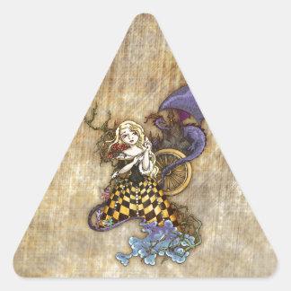 Sleeping Beauty Triangle Sticker