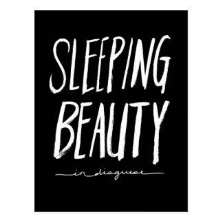 Sleeping Beauty | White Brush Script Style Postcard