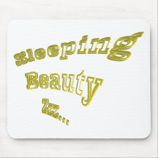 Sleeping Beauty ZZZ gold 3DD nice Mouse Pad