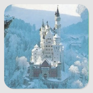 Sleeping Beauty's Castle Square Sticker