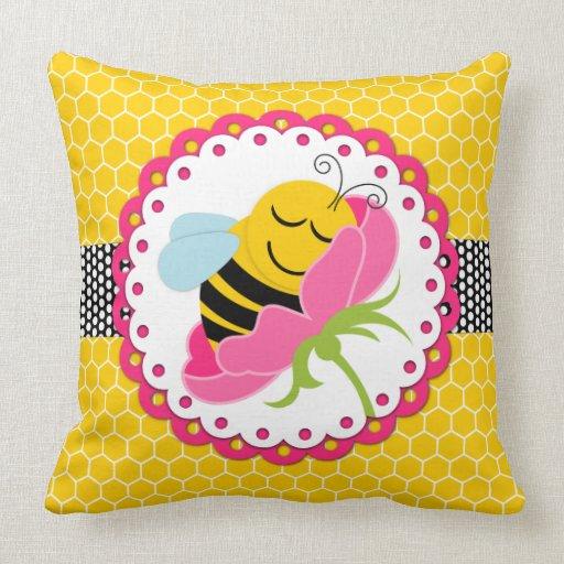 Jumbo Throw Pillows : Sleeping Bee Baby Nursery Jumbo Throw Pillow Zazzle