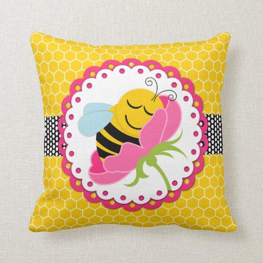 Sleeping Bee Baby Nursery Jumbo Throw Pillow