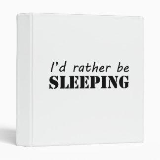 Sleeping 3 Ring Binder