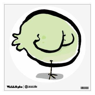 sleeping bird wall decal