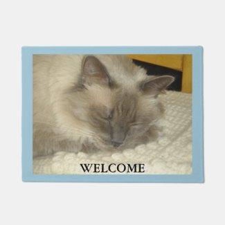 Sleeping Birman Cat Doormat
