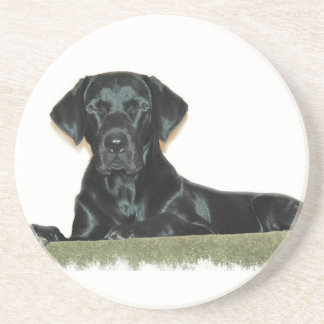 Sleeping Black Labrador Retriever Coasters