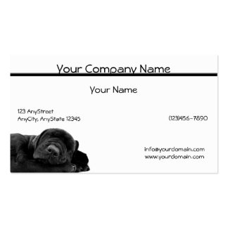 Sleeping Black Puppy Business Card