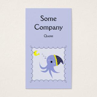 Sleeping Blue Octopus Business Card