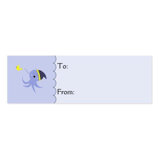 Sleeping Blue Octopus Business Card Template