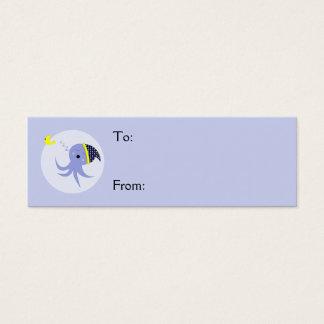 Sleeping Blue Octopus Mini Business Card