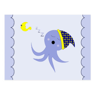 Sleeping Blue Octopus Postcard