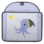 Sleeping Blue Octopus Sleeves For MacBook Pro