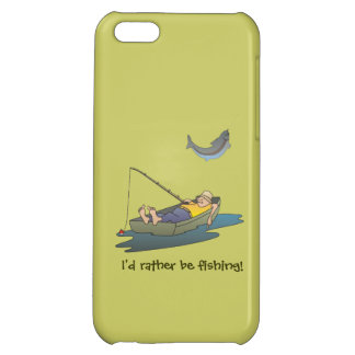 Sleeping boat fisherman, fish and funny slogan case for iPhone 5C