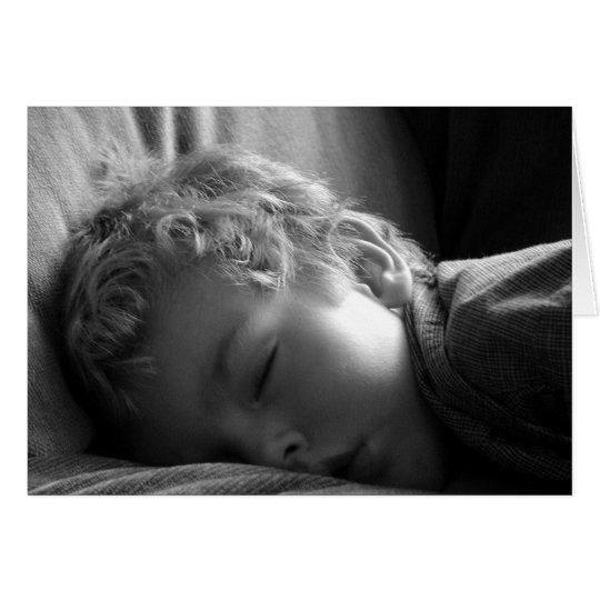Sleeping Boy Card
