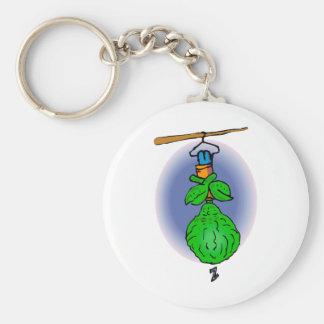 Sleeping Brother Alien Basic Round Button Keychain