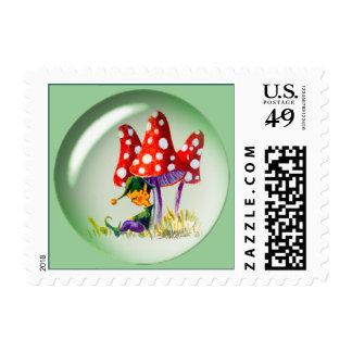 SLEEPING BUBBLE ELF by SHARON SHARPE Stamp
