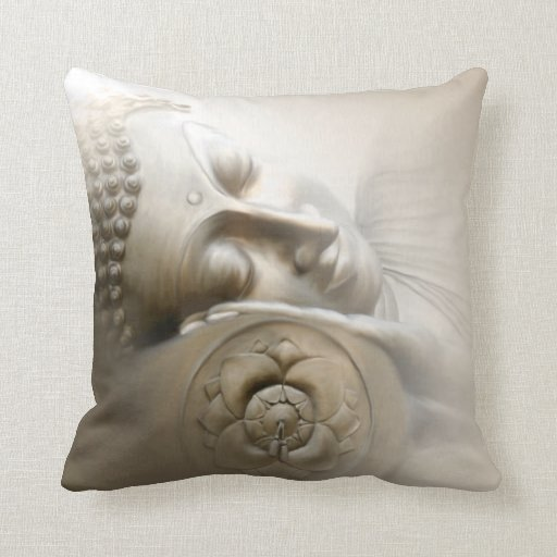 Sleeping Buddha Throw Pillows
