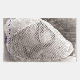 Sleeping Buddha Rectangular Sticker