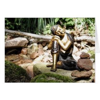 sleeping buddha tarjeta de felicitación