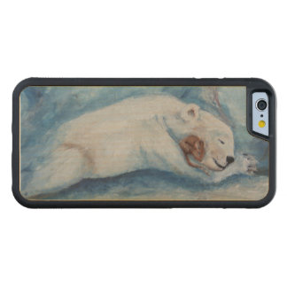 Sleeping Buddies Bear and Mouse Carved® Maple iPhone 6 Bumper Case